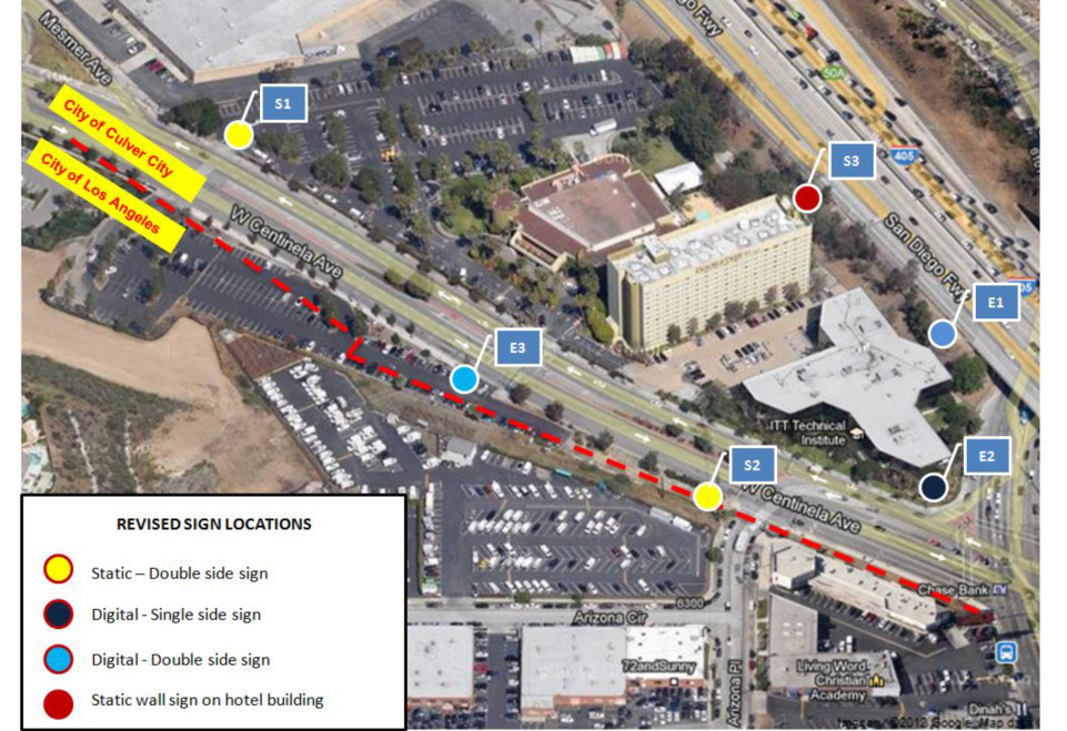 Culver City Digital Sign Proposal - Proposed Sign Locations