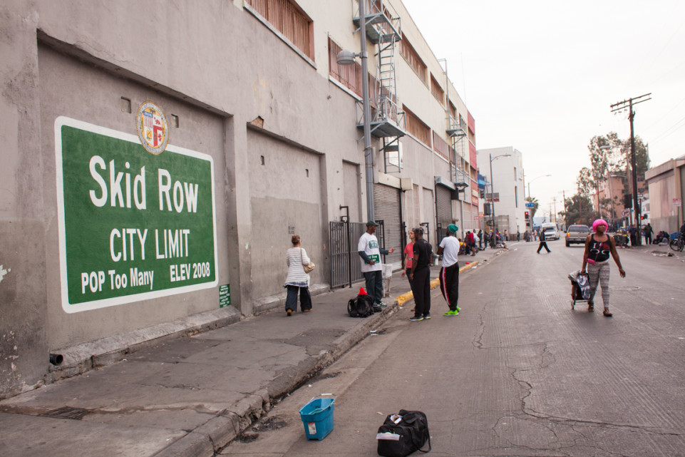 A mural in L.A.'s Skid Row. Photo: Stephen Zeigler / lataco.com