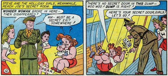 Etta Candy eating candy from a box.