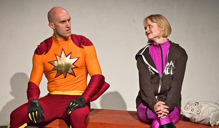 Jones Welsh and Alina Bolshakova in the Superhero and his Charming Wife