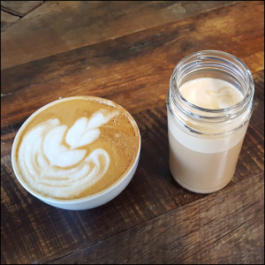 A couple of Bar 9's delicious coffees...