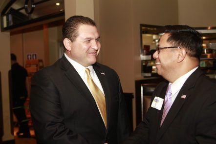 Mr. Marquez, left, with Cerritos Mayor Mark Pulido
