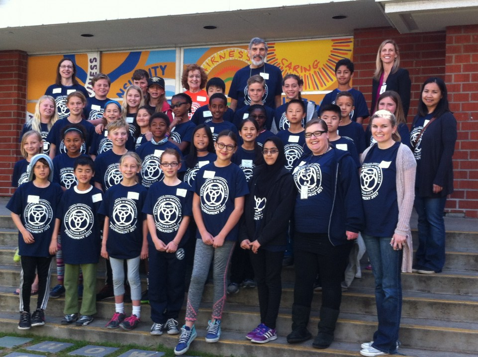 Fourth- and fifth-grade Mathletes from five Culver City elementary schools. Photo, Lois Frand