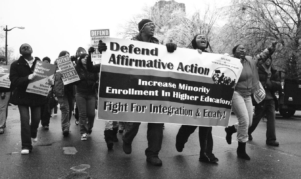 affirmative action is it still Affirmative action, also known as reservation in india and nepal, positive action in the uk, and employment equity (in a narrower context) in canada and south africa, is the policy of promoting the education and employment of members of groups that are known to have previously suffered from discrimination.